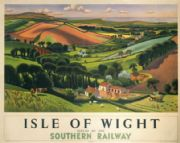Isle of Wight. Southern Railways Vintage Travel Poster by Allinson